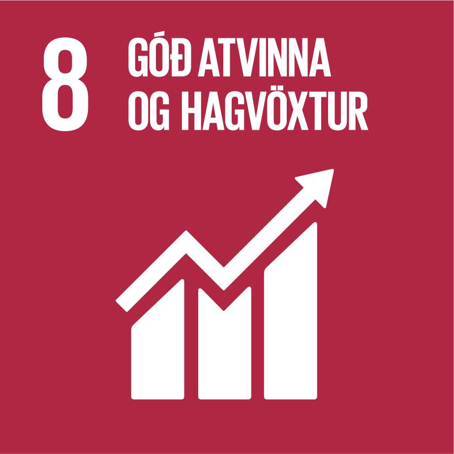 8: Góð atvinna og hagvöxtur
